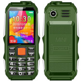 haiyu h1 1.8  inch waterproof shockproof dustproof camera dual sim 2g phone green