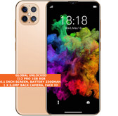 "i12 pro 8gb dual core 5.0mp face id dual sim 6.1"" 3g android smartphone gold"