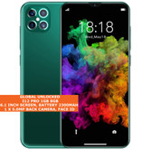 "i12 pro 8gb dual core 5.0mp face id dual sim 6.1"" 3g android smartphone emerald"