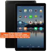 tablet pc 10.1 inch 6gb 128gb octa-core 13mp dual sim android 8.0 tablet black