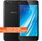 "vivo y53 16gb snapdragon 425 quad-core 8.0mp dual sim 5.0"" android 4g lte black"