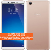 "vivo y71 3gb 32gb quad-core 13mp dual sim 6.0"" android 8.0 lte smartphone gold"