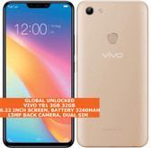 "vivo y81 3gb 32gb octa-core 13mp dual sim 6.22"" android 8.0 lte smartphone gold"