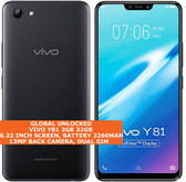 "vivo y81 3gb 32gb octa-core 13mp dual sim 6.22"" android 8.0 lte smartphone black"