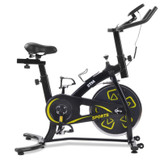 indoor fitness exercise bike flywheel adjustable handle ship from uk yellow