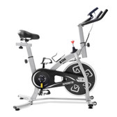 indoor fitness exercise bike flywheel adjustable handle ship from uk silver