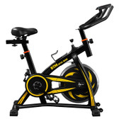 indoor sports bike home fitness data monitoring resistance ship from uk yellow