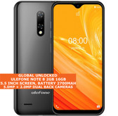 "ulefone note 8 2gb 16gb quad-core 5.0mp face id 5.5"" android 3g smartphone black"