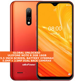 "ulefone note 8 2gb 16gb quad-core 5.0mp face id 5.5"" android 3g smartphone red"