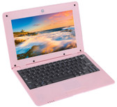 netbook pc 10.1 inch 8gb a33 quad core wifi lan camera android laptop pink