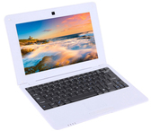 netbook pc 10.1 inch 8gb a33 quad core wifi lan camera android laptop white
