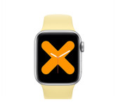 "x7 smart watch music bluetooth call 1.54"" display heart rate blood pressure yellow"