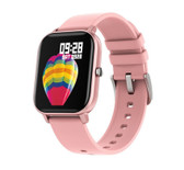 p8 smart watch waterproof heart rate sleep monitoring reminder ios android pink