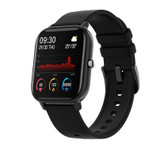 p8 smart watch waterproof heart rate sleep monitoring reminder ios android black