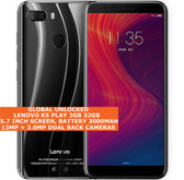 "lenovo k5 play 3gb 32gb octa core dual sim 5.7"" fingerprint android 4g lte black"