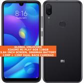 "xiaomi mi play 6gb 128gb dual sim 5.84"" fingerprint android 9.0 smartphone black"