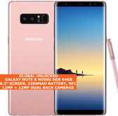 "samsung galaxy note 8 n950u 6gb 64gb nfc 6.3"" fingerprint android 9.0 lte pink"