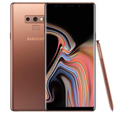 "samsung galaxy note9 n960u 6gb 64gb fingerprint 6.4"" android 10 lte nfc copper"