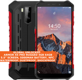 "ulefone armor x5 pro rugged 4gb 64gb waterproof 5.5"" face id android 10 lte red"