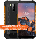"ulefone armor x5 pro rugged 4gb 64gb waterproof 5.5"" face id android 10 orange"