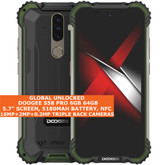 "doogee s58 pro 6gb 64gb waterproof 5.7"" fingerprint android 10 smartphone green"