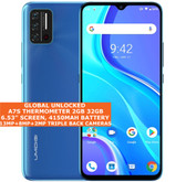 """Umidigi A7s Thermometer 2gb 32gb Dual Sim 6.53"""" Face Id Android 10 lte 4g blue"""