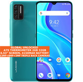 """Umidigi A7s Thermometer 2gb 32gb Dual Sim 6.53"""" Face Id Android 10 lte 4g green"""