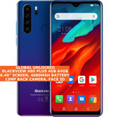 "Blackview A80 Plus 4gb 64gb Dual Sim 6.49"" Fingerprint Id Android 10 Nfc 4g Blue"