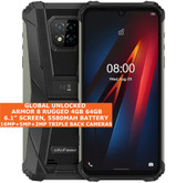 "Ulefone Armor 8 Rugged 4gb 64gb Waterproof 6.1"" Fingerprint Android 10 4g Black"