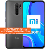 "Xiaomi Redmi 9 4gb 64gb Octa Core 6.53"" Fingerprint Dual Sim Android Nfc Grey"