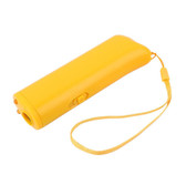 Pet Dog Repeller Anti Barking Led Ultrasonic Stop Bark Training Device Yellow