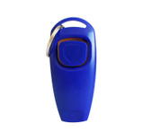Dog Whistle Clicker Pet 2 In 1 Pet Dog Trainer Aid With Key Ring Dog Blue