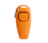 Dog Whistle Clicker Pet 2 In 1 Pet Dog Trainer Aid With Key Ring Dog Orange