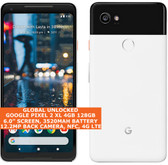 "Google Pixel 2 Xl 4gb 128gb Octa-Core 6.0"" Fingerprint Android 11 Nfc Lte White"