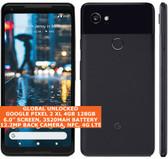 """Google Pixel 2 Xl 4gb 128gb Octa-Core 6.0"""" Fingerprint Android 11 Nfc Lte Black"""