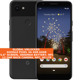 "Google Pixel 3a 4gb 64gb Octa-Core 5.6"" Fingerprint Android 11 Nfc Lte 4g Black"