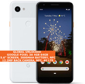 "Google Pixel 3a 4gb 64gb Octa-Core 5.6"" Fingerprint Android 11 Nfc Lte 4g White"