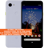 "Google Pixel 3a Xl 4gb 64gb Octa-Core 6.0"" Fingerprint Android 11 Nfc Lte Purple"