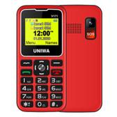 Uniwa Mt6261d Bluetooth Led Flashlight Dual Sim Wireless Fm 2g Mobile Phone Red