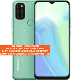 "Blackview A70 3gb 32gb Octa Core 6.5"" Face Id Dual Sim Android 11 4g Lte Green"