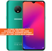 "Doogee X95 Pro 4gb 32gb Quad Core 6.52"" Face Id Dual Sim Android 10 4g Otg Green"