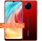 "Blackview A80s 4gb 64gb Octa Core 6.21"" Face Id Dual Sim Android 10 4g Lte Red"