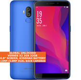 "VERNEE X2 3gb 32gb Quad Core 6.0"" Fingerprint Id Dual Sim Android 9.0 4g Blue"