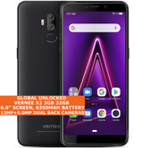 "VERNEE X2 3gb 32gb Quad Core 6.0"" Fingerprint Id Dual Sim Android 9.0 4g Black"