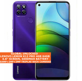 "LENOVO LEMON K12 PRO 4gb 64gb Snapdragon 662 Octa Core 6.8"" Android 10 4g Purple"