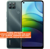 "LENOVO LEMON K12 PRO 4gb 64gb Snapdragon 662 Octa Core 6.8"" Android 10 4g Black"