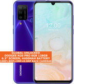 "DOOGEE N20 PRO 6gb 128gb Mtk6771v Octa Core 6.3"" Fingerprint Android 10 purple"