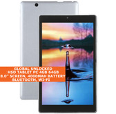 HSD TABLET pc 4gb 64gb atom z8300 quad core 8.0 inch Bluetooth windows 10 Silver
