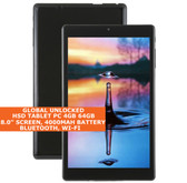 HSD TABLET pc 4gb 64gb atom z8300 quad core 8.0 inch Bluetooth windows 10 Black