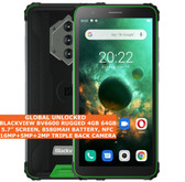 "BLACKVIEW BV6600 RUGGED 4gb 64gb Waterproof 5.7"" Fingerprint NFC Android Green"